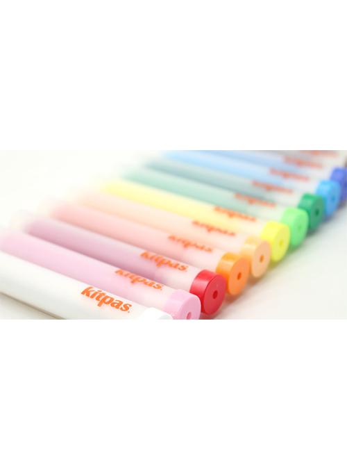 Kitpas Holder Marker, 12 colors Refillable 3