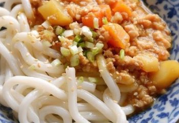 UDON, SERVED WITH MISO MINCED MEAT